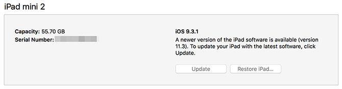 Restore or Update iPad iTunes