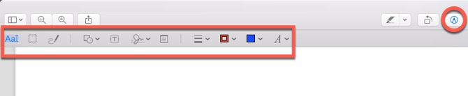 macOS Preview Markup Toolbar