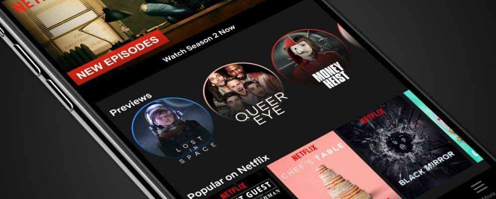 Netflix startet kurze Video-Previews auf Mobile