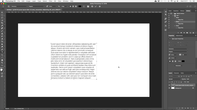working with text in photoshop - photoshop paragraph text