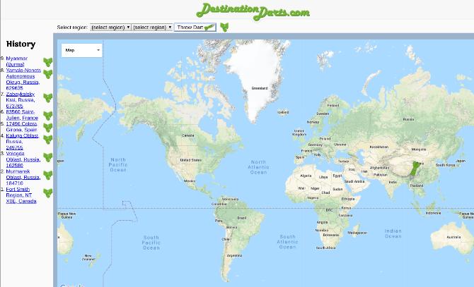 pick travel destination random sites