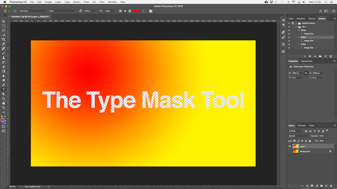 working with text in photoshop - photoshop transparent text