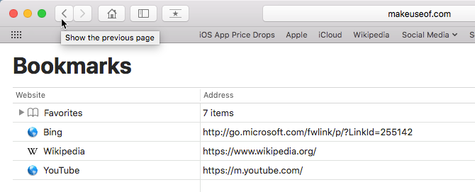 how to manage bookmarks in safari - Bookmarks editor