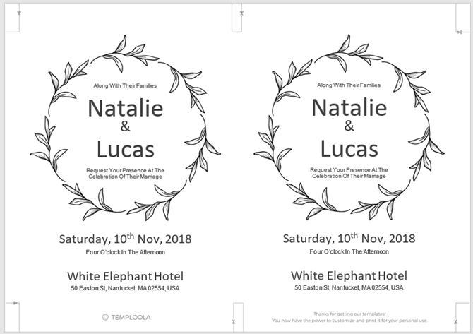 13 free templates for creating event invitations in microsoft word