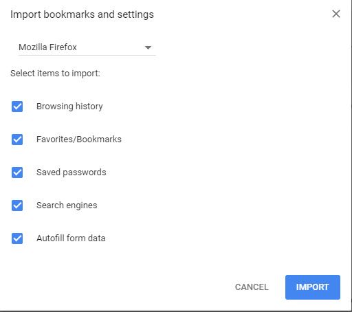 Chrome-Import-Bookmarks