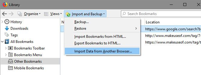 Firefox-Import-Bookmarks