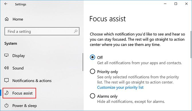 How to Use Windows Focus Assist (Formerly Quiet Hours) Focus Assist