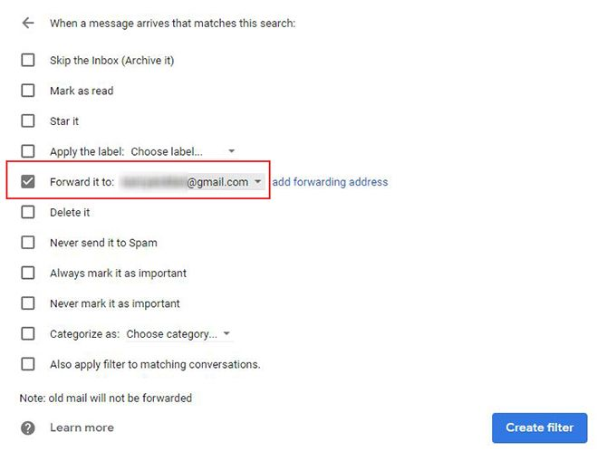 how to automatically forward emails in outlook and gmail