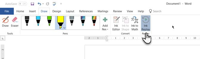 Microsoft Office Ink Replay