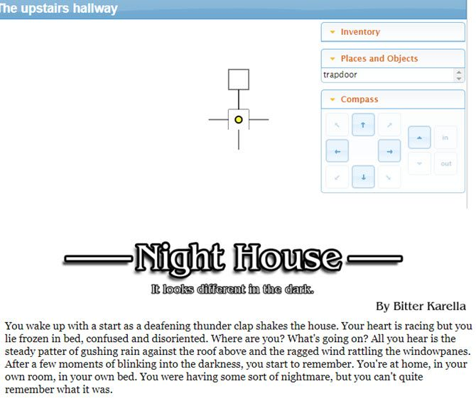 Text-Based Games - Night House