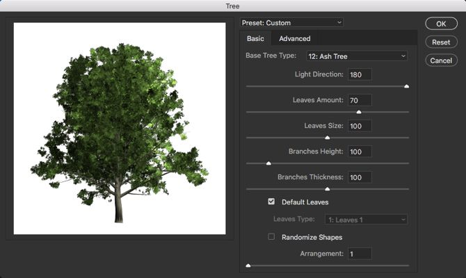 Photoshop Tree Filter