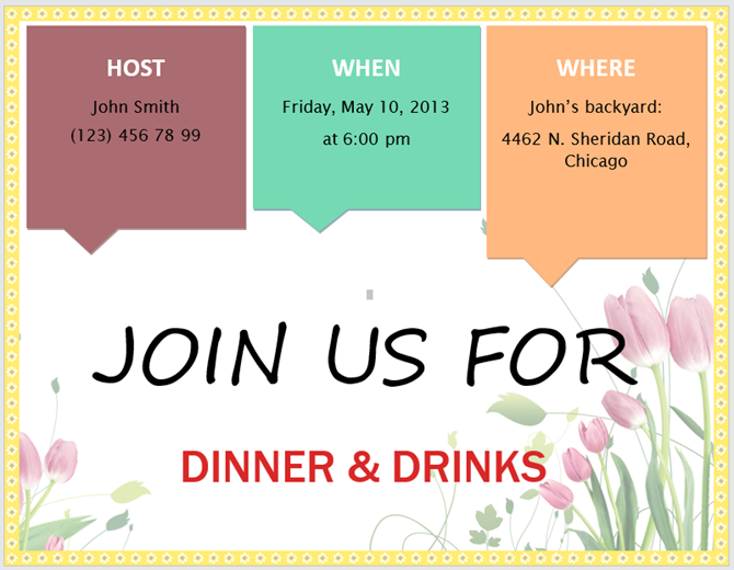 free microsoft word invitation templates spring party