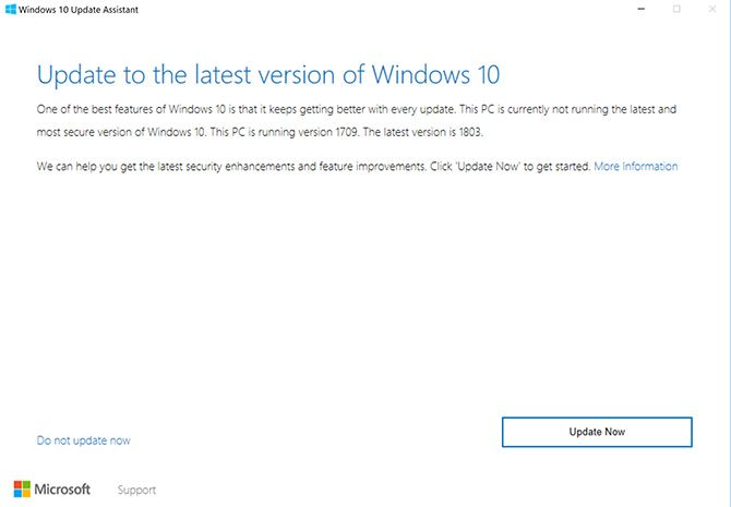 How to Manually Download the Windows 10 April 2018 Update Windows10 Update Assistant 1