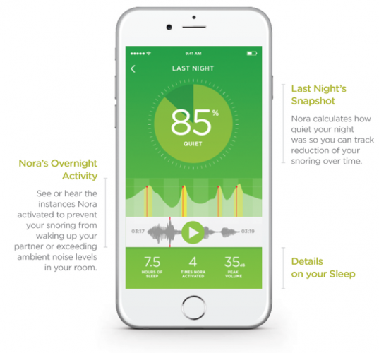 Smart Nora Review: The Most Effective Non-Invasive Anti-Snoring Device Yet app screenshot 537x500