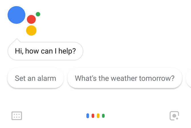 Google Assistant Main Screen