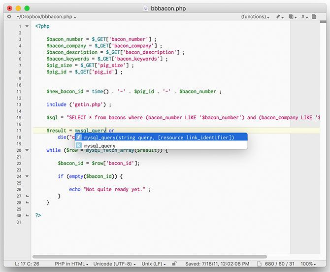 BBEdit text editor Mac