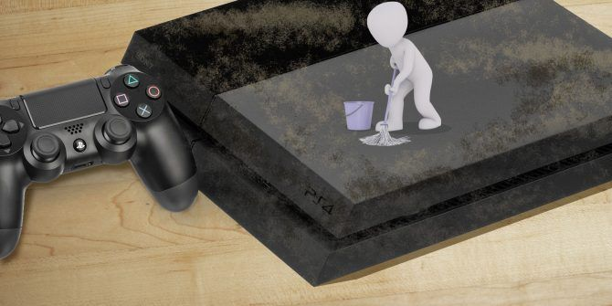 how to clean the ps4 with a dust