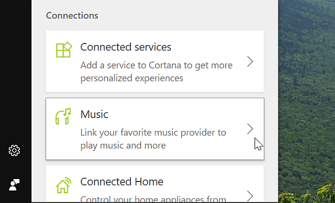 Cortana Desktop Connect Music