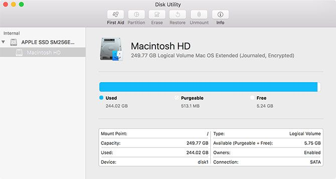 Disk Utility for macOS
