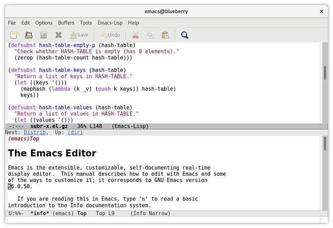 Emacs text editor Mac