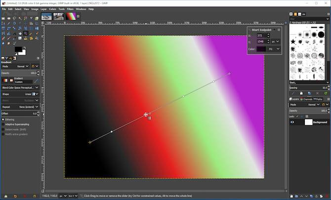 new gimp features - gimp gradient