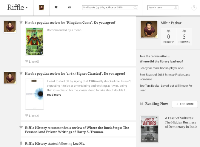 best sites apps alternatives to goodreads