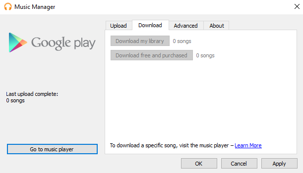 download google play music manager