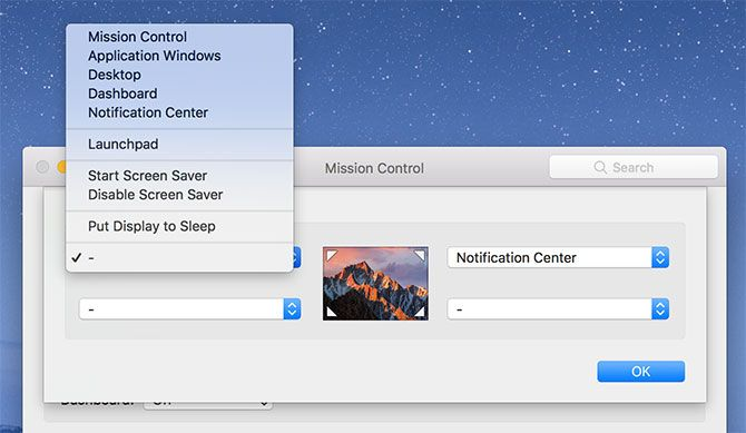 enable hot corners mac