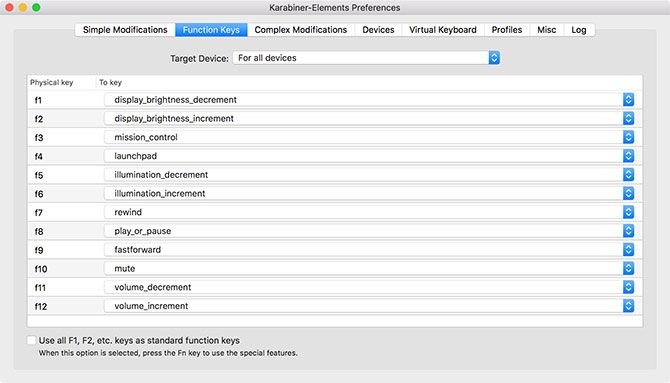 Karabiner-Elements for Mac