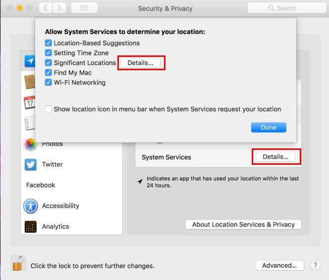 Mac Location System Services