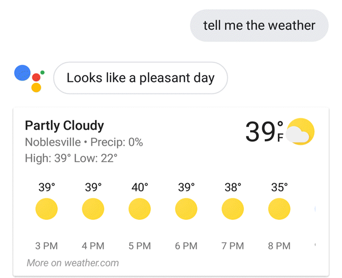 Google Assistant Weather
