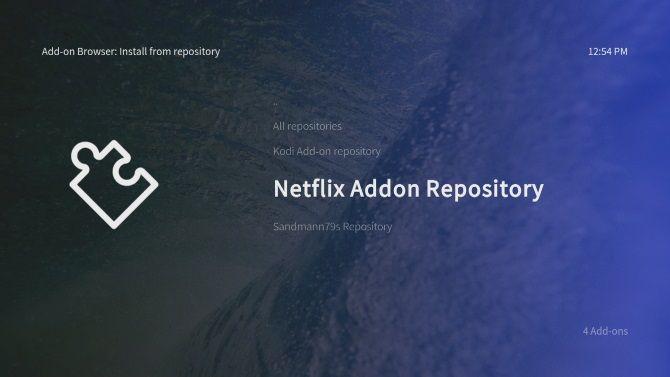 Install Netflix add-on