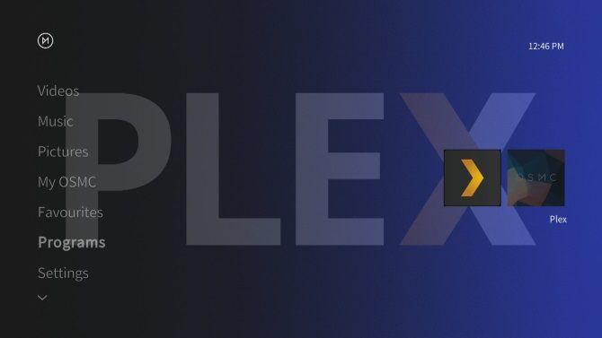 Plex running on OSMC