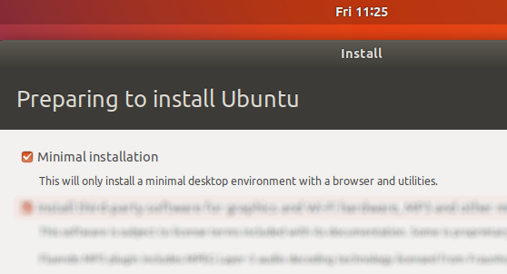 Ubuntu 18.04 LTS features - faster install