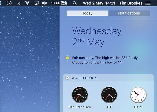 Notification Center for hot corners mac