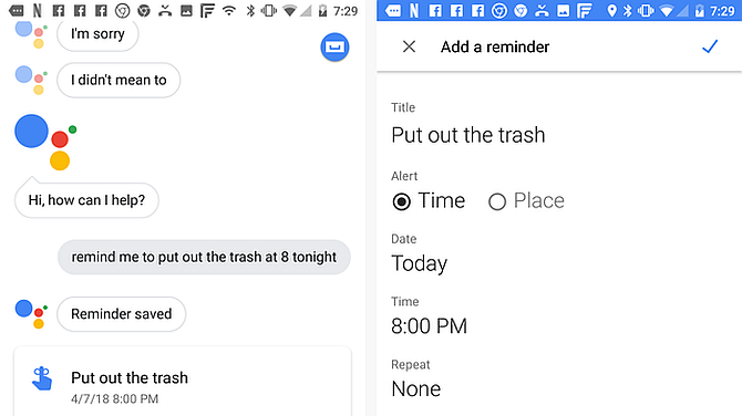 Google Assistant Add Reminder