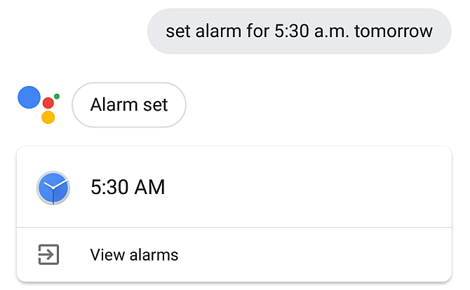 Google Assistant Set Alarm