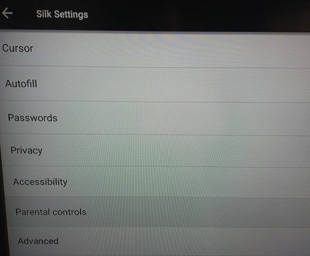 silk fire tv parental controls