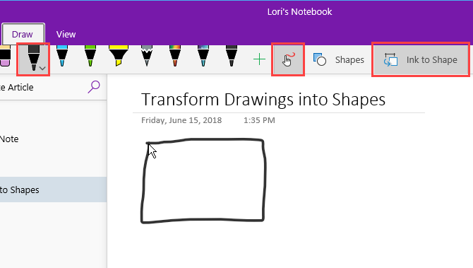 Drawing a shape