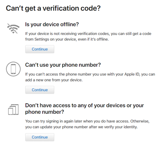 2fa verification code options