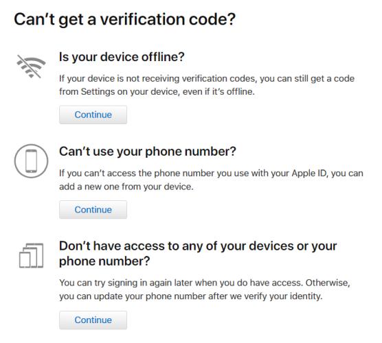 2fa verification code options