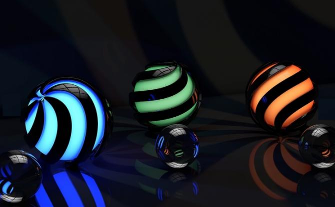3D Tema, Windows 10 için karanlık bir HD teması