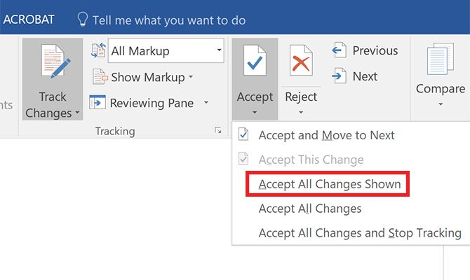 How to Filter and Apply Tracked Changes in Microsoft Word Accept All Changes Shown