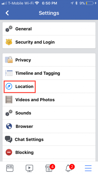 how to view and delete your location history on facebook. Black Bedroom Furniture Sets. Home Design Ideas