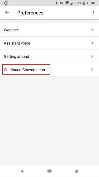 """Fortsetzung der Konversation von Google Home: Hören Sie auf, """"OK Google"""" vor den Befehlen"""