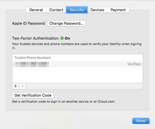 Mac 2FA is turned on