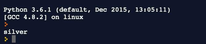 A sample Python-ORM query