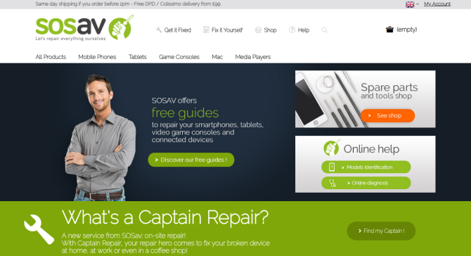 SOSav Gadget Repair Website
