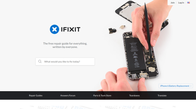 IFixIt Gadget Repair Website