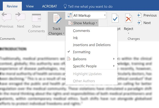 How to Filter and Apply Tracked Changes in Microsoft Word Show Markup